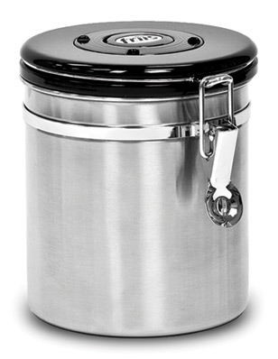 The Friis Flavor Vault Is A Purpose Designed Container For Storing Coffee Containers Have Snap Clasp Closure And Gasket Sealed Lid